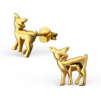 Gold Vermeil Bambi Deer Earrings