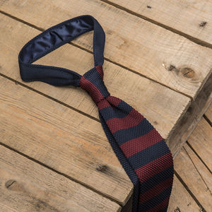 Stripy Knitted Square End Tie
