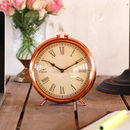 Copper Vintage Round Mantel Clock