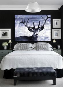 Deer At Dawn, Ready To Hang Canvas Art - contemporary art