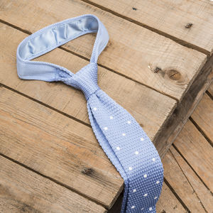 Polka Dot Knitted Tie - ties & tie clips