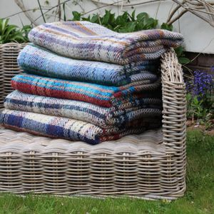 Recycled 100% Wool Throw - outdoor dining