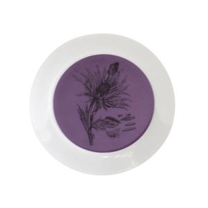 Small Purple Decorative Botanical Thistle Plate