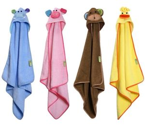 Animal Baby Hooded Towel - bathtime