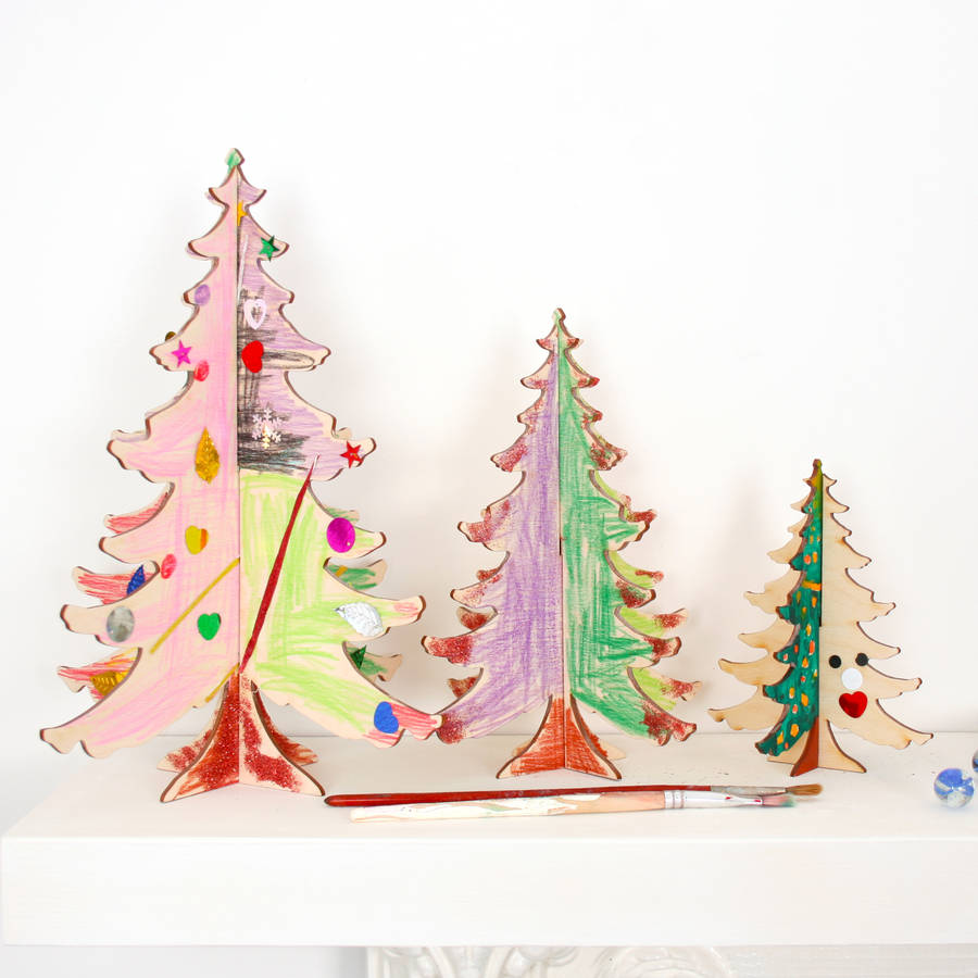 craft diy christmas tree table decorations