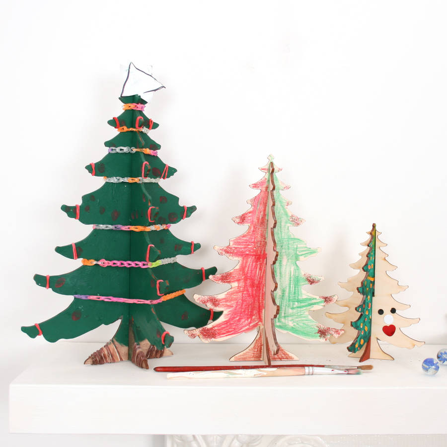 Diy Christmas Tree Table Decoration : Craft diy christmas tree table decorations by bombus