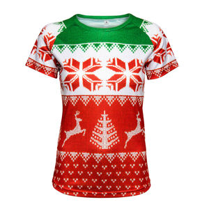 Ladies Christmas Print Running Top
