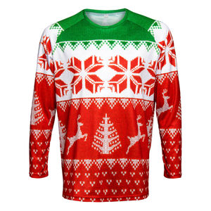 Long Sleeved Running T Shirt With Christmas Design