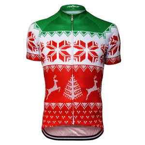 Cycle Jersey Full Zip In Christmas Design - gifts for cyclists