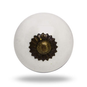 Medium Ceramic Tomato Knob Antique Finish Tina - door knobs & handles