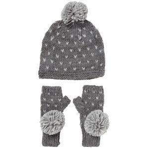 Spotty Fingerless Gloves And Hat Set