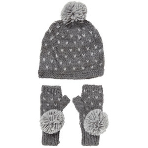 Spotty Fingerless Gloves And Hat Set - fashion accessories