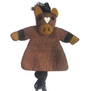 Purdy The Pony Felt Puppet - play scenes