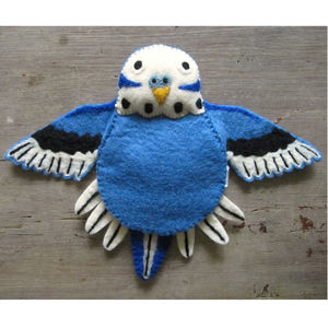 Bert The Budgie Felt Puppet - new lines added