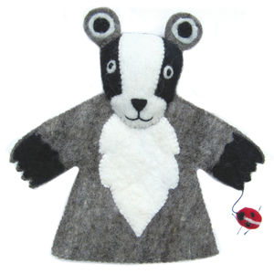 Billie The Badger Puppet - pretend play & dressing up
