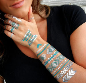 Silver Metallic Tattoos - gifts for teenagers