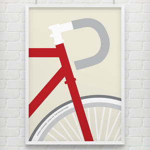Personalised 'Ride' Bike Poster - gifts for cyclists