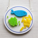 'Fish And Chips' Acrylic Necklace