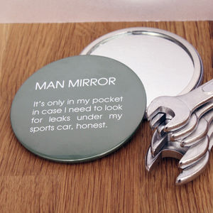 Pocket Man Mirror - grooming gift sets