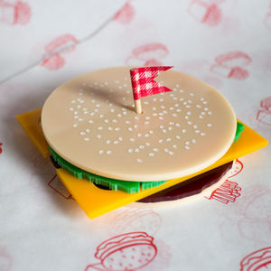 Burger Coaster Set - placemats & coasters