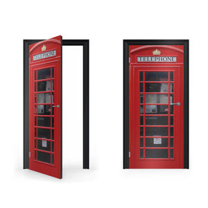 British Red Telephone Box Vinyl Sticker For Door - wall stickers