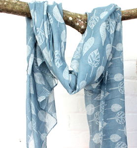 Muted Bird Print Scarf - scarves