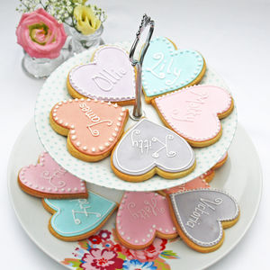 Heart Shaped Personalised Biscuit - biscuits