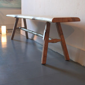 Stripped Back Chestnut: Handmade Bench