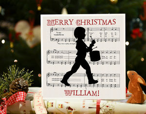 Boy's Christmas Card Silhouette 'Litte Drummer Boy'