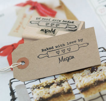 Personalised Baking Rubber Stamp