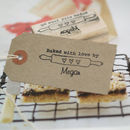 'Baked With Love' Rolling Pin Rubber Stamp