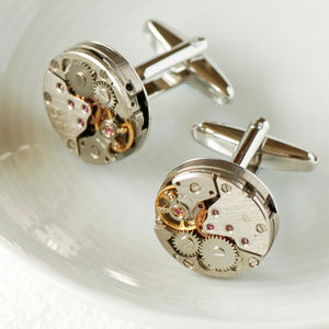 Watch Movement Cufflinks - wedding jewellery