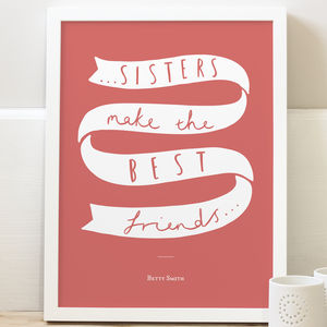 Personalised Sister Print - posters & prints for children