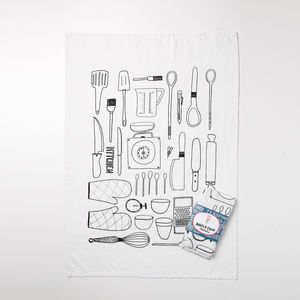'Kitchen' Screen Printed Tea Towel - view all sale items