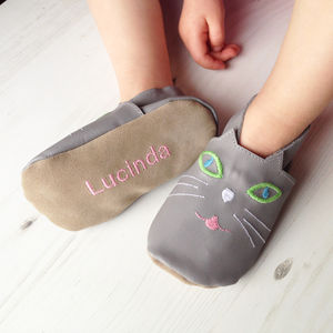 Personalised Children's Cat Slippers - shoes & footwear