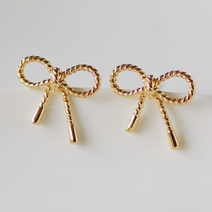 Dainty Bow Stud Earrings - earrings