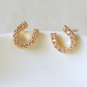Lucky Horseshoe Earrings - children's jewellery