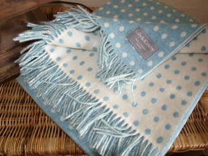 Merino Polka Dots Throws And Cushions - throws, blankets & fabric