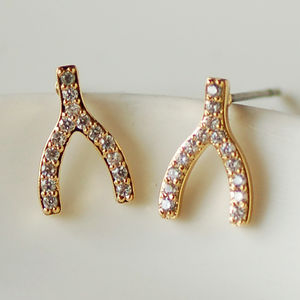 Wishbone Earrings - women's jewellery sale