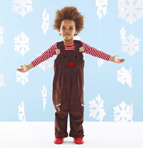 Kids Reindeer Dungarees - fancy dress
