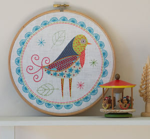 Birdie One. Embroidery Kit