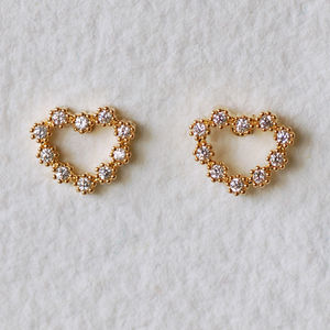Dainty Heart Earrings - children's jewellery