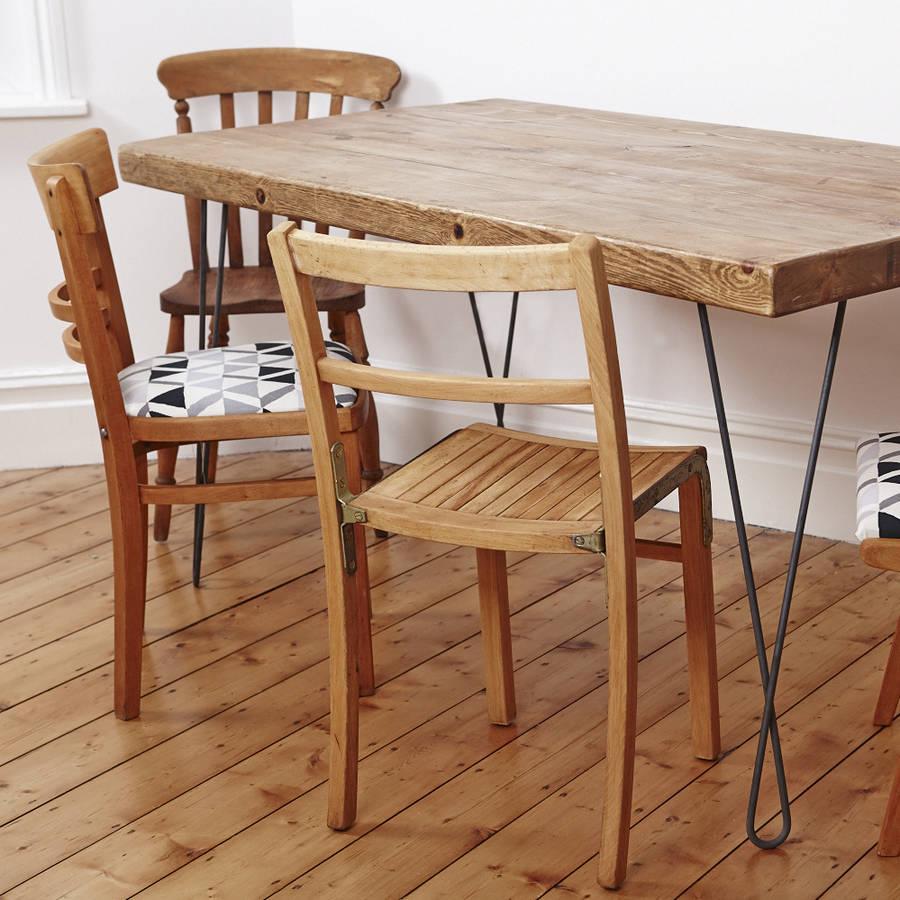 Mismatched Wooden Dining Chair Set By Deja Ooh