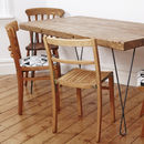 Mismatched Wooden Dining Chair Set