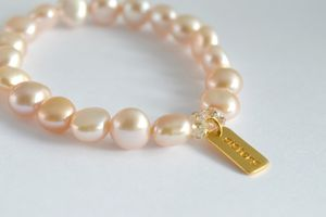 Pearl And Gold Sisters Bridesmaid Bracelet