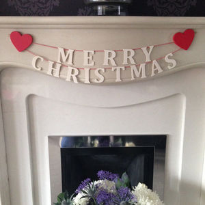 Merry Christmas Wooden Garland - garlands & bunting