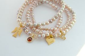 Amira Pearl Bracelet Stack - wedding fashion