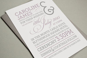 'Ampersand' Letterpress Wedding Stationery - wedding stationery