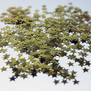 Gold Star Confetti - table decorations