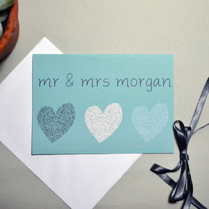 Personalised Wedding Heart Card